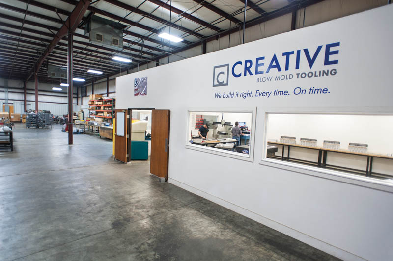 The Creative Blow Mold Tooling quality lab is a private, environmentally-controlled facility.